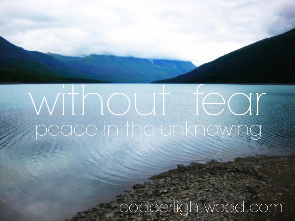 without fear: peace in the unknowing