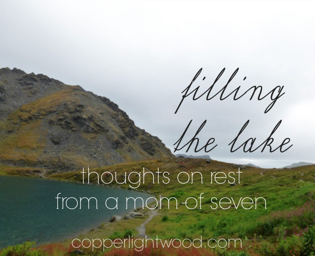 filling the lake: thoughts on rest from a mom of seven