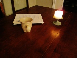 in writing, day 7 of Wait and Listen (Copperlight Wood)