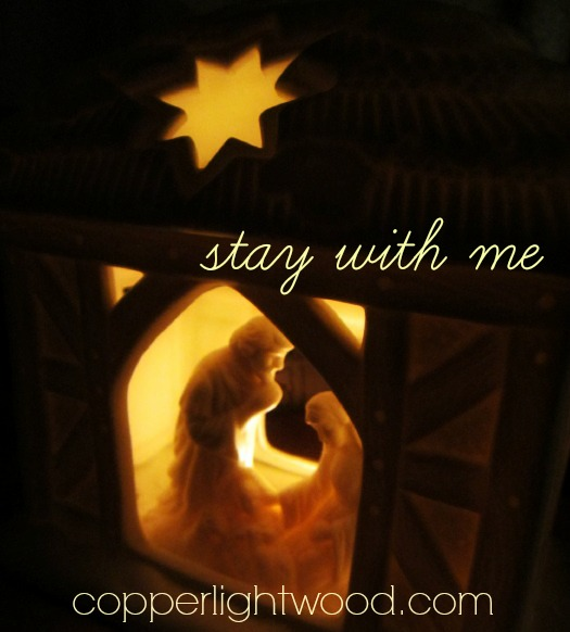 stay with me: when the star shone on our circumstances and showed us the Savior