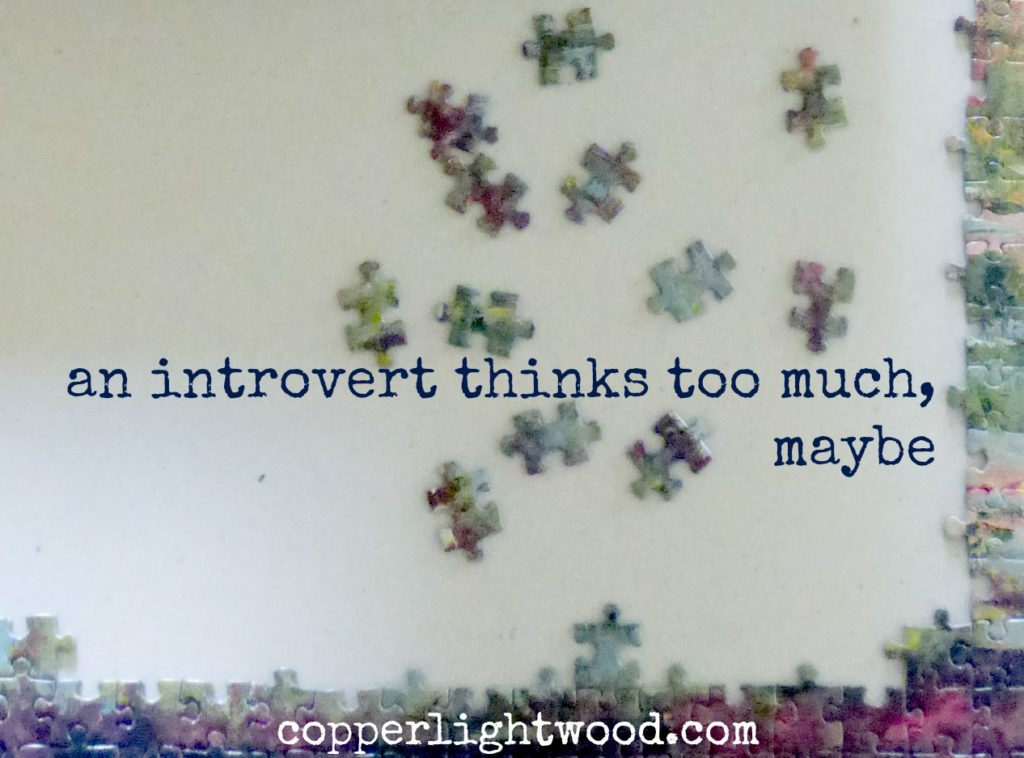 an introvert thinks too much, maybe