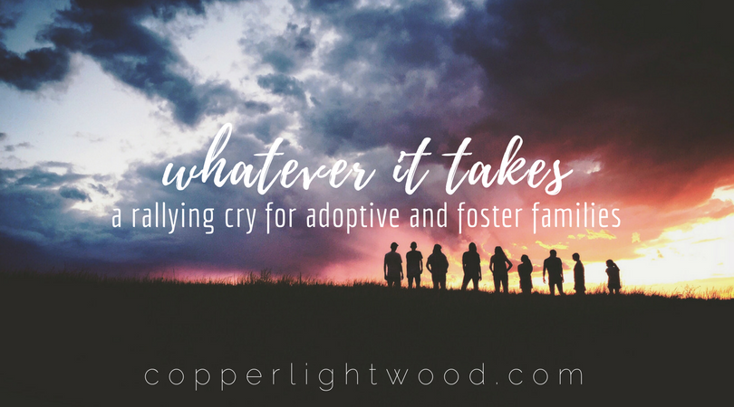 whatever it takes: a rallying cry for adoptive and foster families