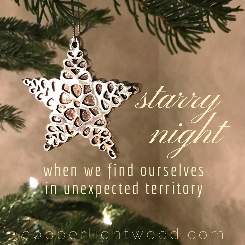 starry night: when we find ourselves in unexpected territory